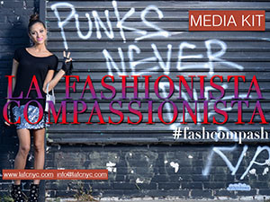Media Kit Cover - La Fashionista Compassionista