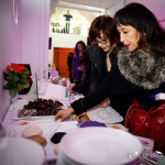 Chefs Fran Costigan and Miyoko Schinner set up their awesome chocolate and cheese - LA Fashionista Compassionista
