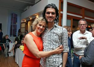 Kathy Stevens & Chef Jay Astafa. Photo by Ruth McDade