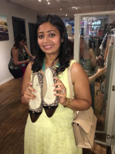 Sugandh Agrawal and her new shoes