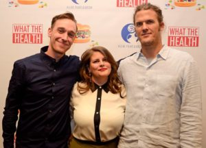 The filmmakers with event organizer Nell Alk